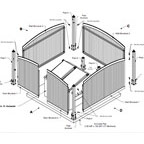 drafting of dumpster enclosure