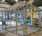 steel framework of out building