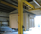 outbuilding on overhead crane