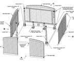 drafting of dumpster enclosure-exploded view